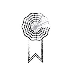 rosette ribbon decoration celebration image vector image