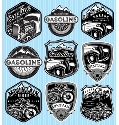 set of badges for advertising gasoline vector image vector image