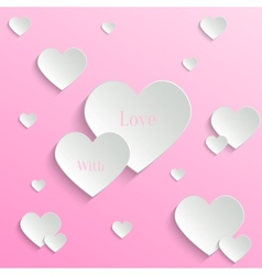 Valentines day backround vector image