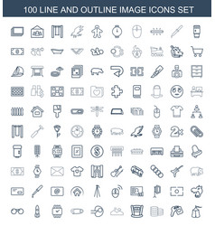 100 image icons vector