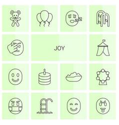 14 joy icons vector