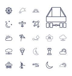 22 sky icons vector