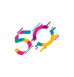 50 years anniversary celebration template design vector