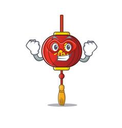 A cartoon asian lantern wearing costume vector