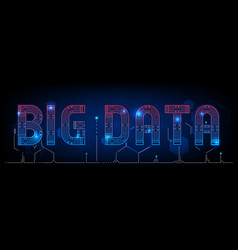 abstract big data technology polygon background vector image