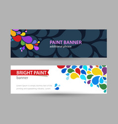 abstract bright banner with drops of rainbow vector image