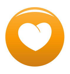 Angelic heart icon orange vector
