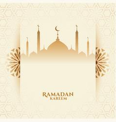 Attractive ramadan kareem festival background vector