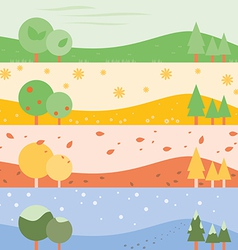 Banner Seasons simple vector