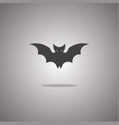 bat silhouette isolated vector image