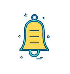 bell icon design vector image