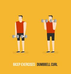 Bicep exercises vector