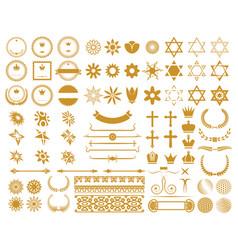 Big set graphic design elements vector