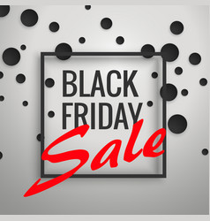 black friday sale discount background poster vector image