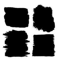 Black watercolor spots Ink vector