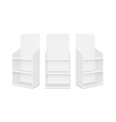 blank pos display stands with shelves vector image