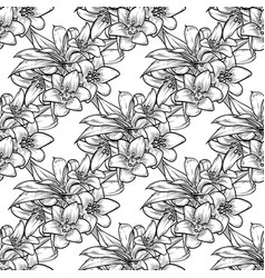 bluebells seamless pattern vector image