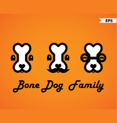 Bone dog family vector