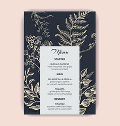 card for wedding invitation with vector image