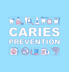 Caries prevention word concepts banner vector