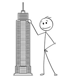 cartoon man or businessman standing vector image
