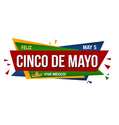 cinco de mayo banner design vector image