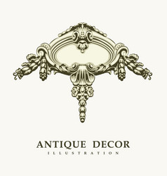 classical antique decor vector image