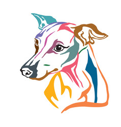 Colorful decorative portrait of dog italian vector