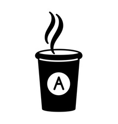 cup hot coffee icon simple style vector image