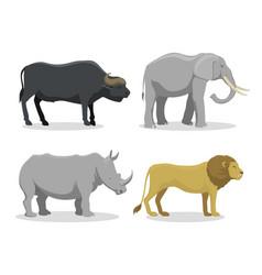 cute cartoon safari animals vector image vector image