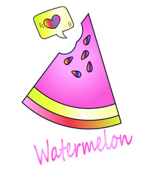delicious juicy watermelon icon vector image