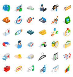 delivery icons set isometric style vector image