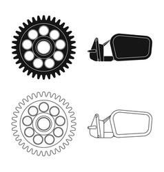 Design of auto and part symbol set of auto vector