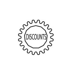 Discounts tag icon vector