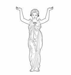 Drawing of a caryatid vector