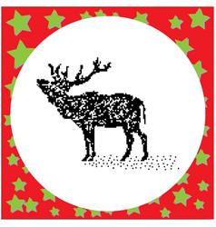 elk black 8-bit dog standing vector image