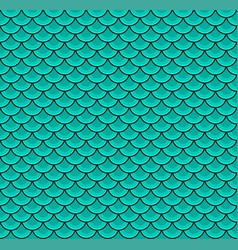 fish scales blue color seamless pattern vector image