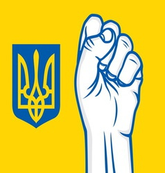 fist ukraine vector image