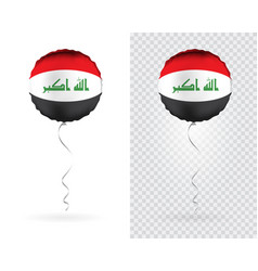 foil balloons in national flag iraq vector image