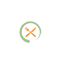 Food restaurant logo vector