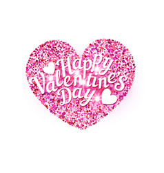 for valentines day pink heart vector image