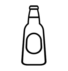 fresh beer bottle isolated icon vector image