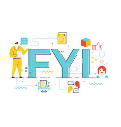 fyi word lettering vector image