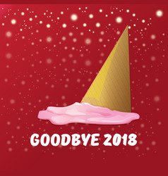 Goodbye 2018 year funny concept vector