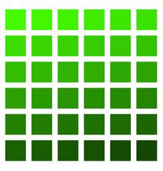 green color palette green vegetation grass vector image