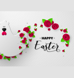 happy easter holiday design vector image