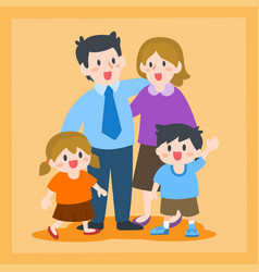 happy family father mother children vector image