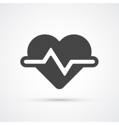 Heartbeat trendy flat icon vector image