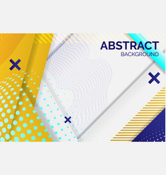 hipster geometric abstract background yellow vector image