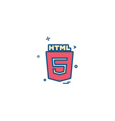 html 5 icon design vector image